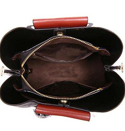 Fabelhaft Plüsch-Bärn-Verzierungen Schulter-Beutel-Damen Retro- Handtasche ArmyGreen