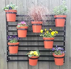 Pot de fleurs mural Porte-jardinière suspendue pour fraisier herbes aromatiques avec Pots &cintres MED