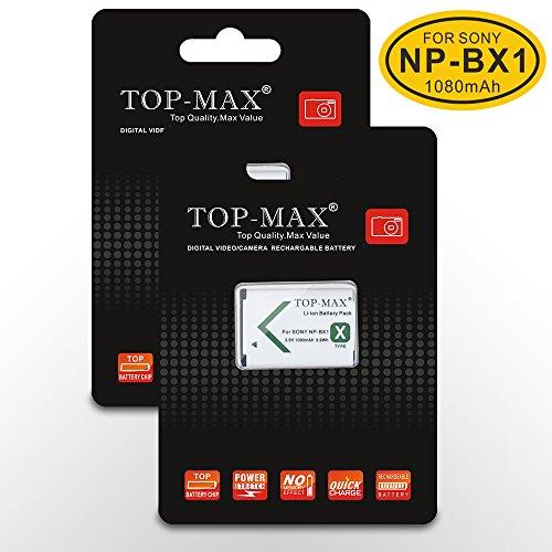 TOP-MAX® 2X NP-BX1 Akku + USB Ladegerät mit LED Anzeige ...
