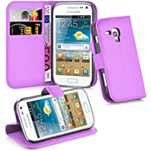 8f3a38510bc Cadorabo Funda Libro para Samsung Galaxy TREND PLUS en VIOLETA DE MANGANESO  – Cubierta Proteccíon con