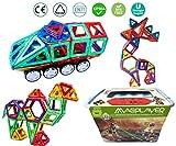 pelzitoys, MPT-198 Magnetspielzeug, Baukasten magnetische Bausteine XXL Spielzeug MAGPLAYER,198 Teile, Verschiedene Formen, Konstruktionsspielzeug ab 3 Jahren