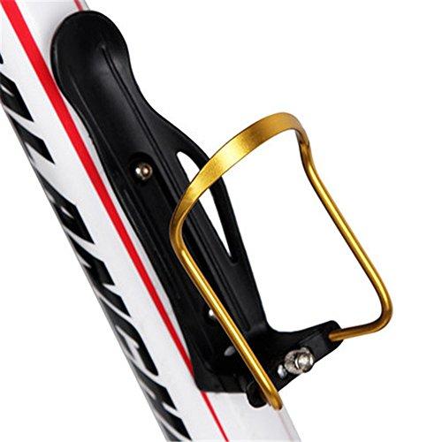 QHJ Fahrrad Aluminium Verstellbarer Griff Wasserkocher Halter Fahrrad Zubehör (Gold)