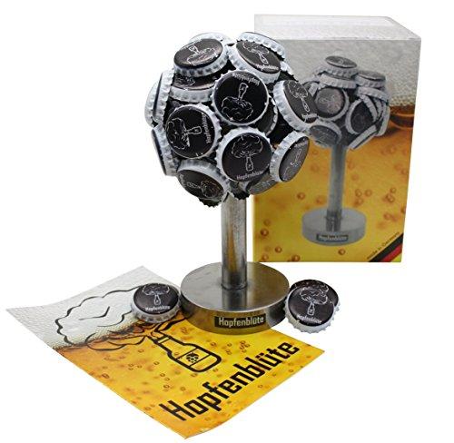 Premium-Magnetbaum-Hopfenblte-Aus-Stahl-Magnetischer-Baum-Fr-Bis-Zu-60-Kronkorken-I-Mnnergeschenk-Mit-Trinkspiel-Ideal-Fr-Party-Und-Bier