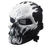 Maske Halloween , QinMM Airsoft Paintball Full Face Skull Skelett taktische militärische CS Maske...