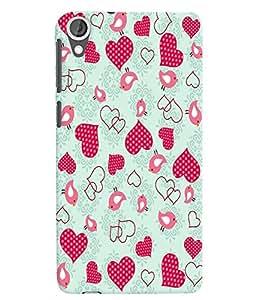 Citydreamz Pink Dotted Hearts/Love/Valentine Hard Polycarbonate Designer Back Case Cover For HTC Desire 828