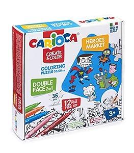 Carioca- Create & Color Coloring Puzzle coloreable, (42940)