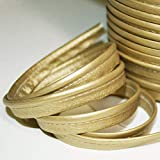Paspelband aus Kunstleder, goldfarben, weich, schöne Qualität – Paspel Skai Gold, verkauft um 5 meter
