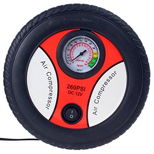 New Portable Electric Mini 12V Air Compressor Pump Car Tyre Tire Inflator  available at amazon for Rs.699