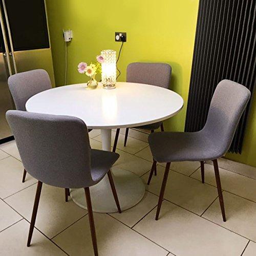 Set von 4 Esszimmerstühlen Coavas Stoff Kissen Küchentisch Stühle ...