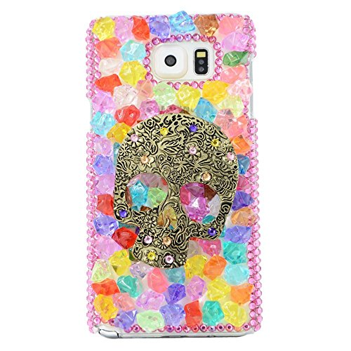 Preisvergleich Produktbild spritech (TM) 3D Handgefertigt Frau fashion girl Punk Skull Dceor Fall Luxus farbenfrohe Süßigkeiten Design klar Hard Caver Fall,  style-6,  Samsung Galaxy S6 Edge Plus S6 Edge