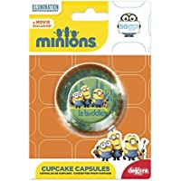 Minions 339239 Pack de 50 Caissettes Cupcakes Papier Vert 5 x 5 x 3 cm