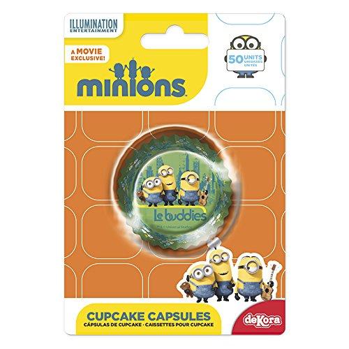 Minions 339239Pack 50Muffinförmchen Cupcakes Papier grün 5x 5x (Dekorationen Minion Party)