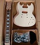 gd590 à bricoler soi-même guitare électrique Ensemble Kit en corps acajou flammé placage ébène Touche OS écrou. supérieur guitare électrique à bricoler soi-même Kit pour Student and luthier projets