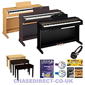 Yamaha Arius YDP-142 Digital Piano Black Including Free Piano Stool with Storage by Chase