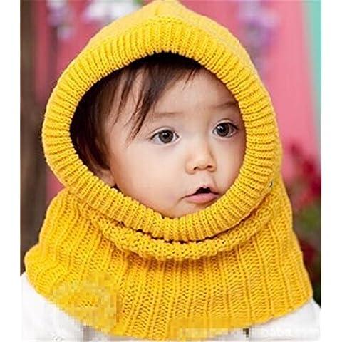 Fashion Base bebé niñas niños Invierno Caliente De Punto Con Orejeras sombreros gorras infantil Beanie Wrap