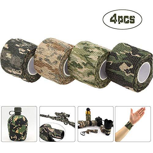 ASEOK 4 piezas, cinta camuflaje, cinta camuflaje pistolas