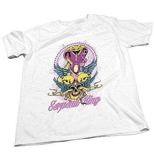 ZDesign Serpent King | Schlangen König Mittelalter | T-Shirt | Größe XS-4XL | Ideales Geschenk Weiß