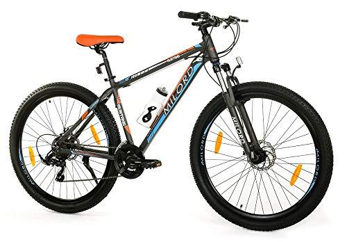 Milord. Bicicleta de montaña MTB Trekking, 21 velocidades - Negro Naranja - Rueda de 29