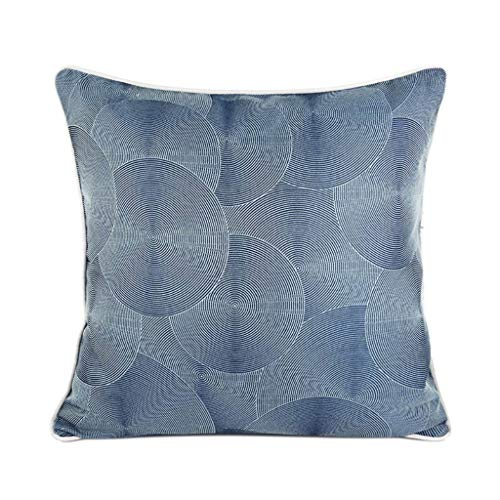 Moderne Kreis textur dekorative Kissen Kissen mit Kern Dekoration Platz Kissen Sofa Bett Auto bürostuhl blau (45 cm x 45 cm) -