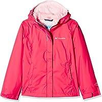 Columbia Arcadia Jacket Chaqueta Impermeable, Aislamiento térmico sintético Hi-Loft, Niña, Rosa (Punch Pink), Medium