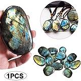 TOPFAY 1pc Edelstein Schmuck Originale natürlicher Kristall Mondstein polierte Quarz längliche dekorative Steine ??(0,78