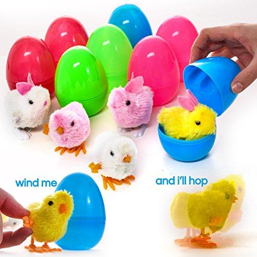 Prextex uova di pasqua piene di giocattoli riempite con coniglietti e pulcini a molla