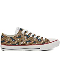 Converse All Star Customized - Zapatos Personalizados (Producto Artesano) Tribal Texture