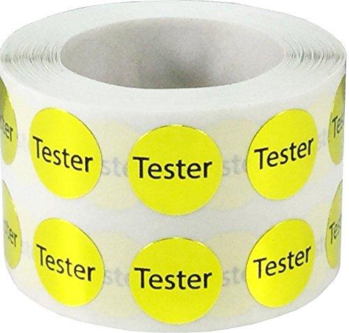 Glänzend Gold Tester Kreis Punkt Aufkleber, 13 mm 1/2 Zoll Rund, 1000 Etiketten auf einer Rolle