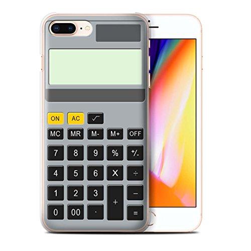 Stuff4 Hülle / Case für Apple iPhone 8 Plus / Tastatur/Blanc Muster / Schaltfläche/Tasten Kollektion Kalkulator