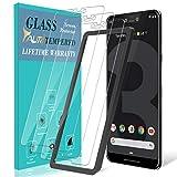 TAURI [3 Stück Schutzfolie für Google Pixel 3 XL Panzerglas, [Alignment Frame] [Einfache Installation][Lebenslanger Ersatz Garantie], Panzerglasfolie HD Klar Glas Bildschirmschutzfolie für Pixel 3 XL