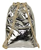 Limited Colors Limited Colors Sportbeutel Turnbeutel PETTY Festival Tasche Hipster Metallic Rucksack (Silber)