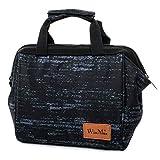 Win.Max winmax Borsa Termica Pranzo Portatile Borsa a Pranzo Lunch Bag Box Borsa frigo per Bambini Lavoro Picnic Pranzo Protezione di freschezza Nero