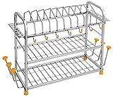 Priya Stainless Steel Kitchen Organizer 6 IN 1 - Dish Drainer - Kitchen Racks
