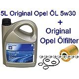 5L Original Opel Motoröl 5w30 Dexos 2 Corsa D 1.0 1.2 + Original Ölfilter