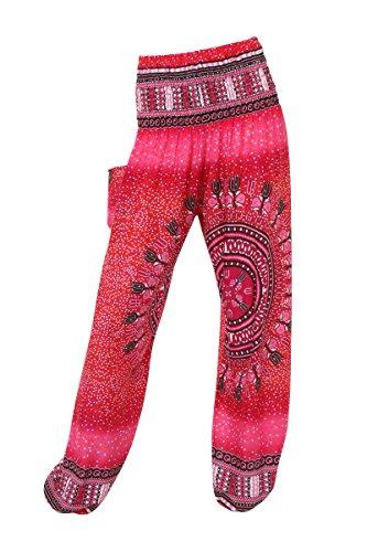 HAREM pantaloni - ALADDIN HIPPIE pantaloni con 18 motivi diversi Bright Bubbles Rose