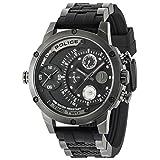 Police Herren Multi Zifferblatt Quarz Uhr mit Silikon Armband 14536JSU/BAT