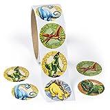 cama24com Dino Dinosaurier Aufkleber Sticker 5 Motive 100 Stück Mitgebsel Gastgeschenk Palandi