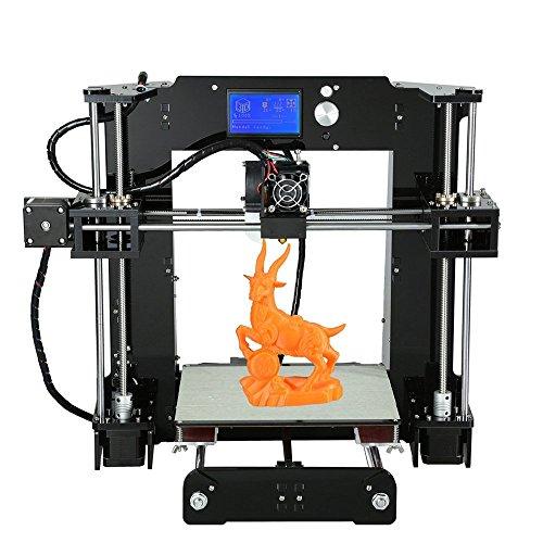 Anet A6 Imprimante 3D DIY Desktop LCD Écran Acrylique Imprimante 3D de Bureau Auto-Assemblage de Haute Précision Support TF Carte Impression Hors Ligne, ABS / PLA / HIPS / TPU / Bois / PP / Nylon / PVA Filament