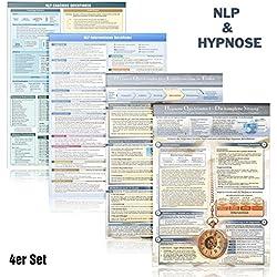 [4er-Set] Das NLP & Hypnose Lern- und Wissenskartenset (2018): -NLP Coaching + 33 NLP Interventionen + Hypnose I - Die komplette Sitzung + Hypnose II ... und Techniken (DINA4, laminiert)