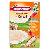 Plasmon - Crema di cereali, 4 Cereali, Indicato dal 4⁰ Mese Compiuto - 230 g