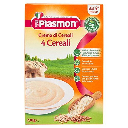 Plasmon Crema di Cereali 4 Cereali Indicato dal 4⁰ Mese Compiuto 230 gr
