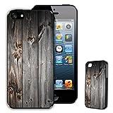 Holzplatten, Hartschale für iPhone 5-Holz dunkel Fußbodenbrettern Grunge, Schwarz