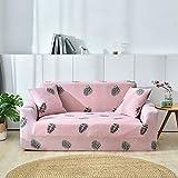 Doppio sedile angolare in stoffa all-inclusive angolare rosso 145-185 cm,Copertura per divano, per divani da 1/2/3/4 posti, modello antiscivolo con elastico, protegge da animali domestici e cani