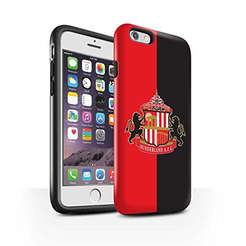 Offiziell Sunderland AFC Hülle / Glanz Harten Stoßfest Case für Apple iPhone 6 / Pack 6pcs Muster / SAFC Fußball Crest Kollektion Rot/Schwarz
