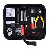 XDLink - Kit di riparazione per chitarra, strumento di manutenzione per chitarra, panno di pulizia con astuccio per ukulele basso, regalo perfetto per chitarristi