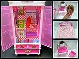 Rosa Barbie Sindy Puppe Kunststoff Möbelset: Bett, Schminktisch & Wardrobe (Puppe nicht enthalten) Geschrieben von London von Fett-Catz