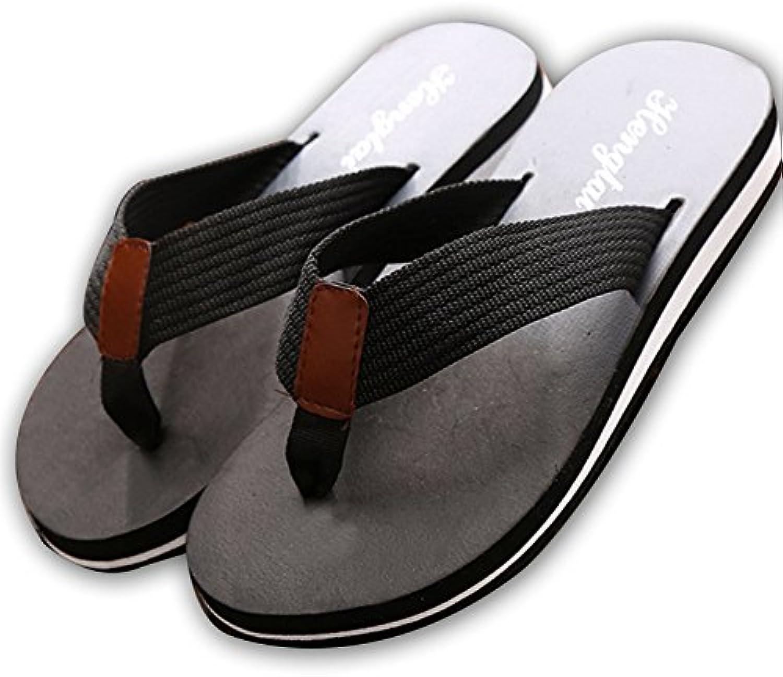 DYY Herren Flip Flops aus Holz  Sommer Sandalen  Slip on Sandalen  Strandschuhe