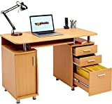 Genuine Piranha Computer Desk with Filing Drawer and Cupboard Home Office PC2b