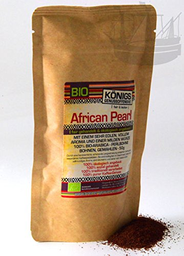 African Pearl Kaffee, BIO, HIGHLIGHT Blue Mountain Perlbohne, ganze Bohnen, PROBIERPAKET, 50g -...