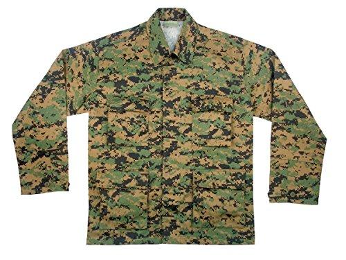 Rothco Herren Shirt-Military BDU, woodland digital camo von Ultra Force Gr. XL, Woodland - Digital Woodland Bdu Shirt